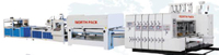 GSZX Online Bottom Folding Hihg Speed Gluing Machine with Auto Flexo Printing Die-cutting Machine and Auto Bunding Machine