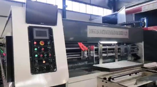 Corrugated Cardboard Flexo Three Printing Slotter Die-cutter Machine