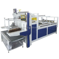 Semi Automatic Carton Box Package Folder Gluer Machine