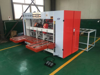 Semi-Auto Double Piece Sheet Folder Gluer Boxing Making Machine